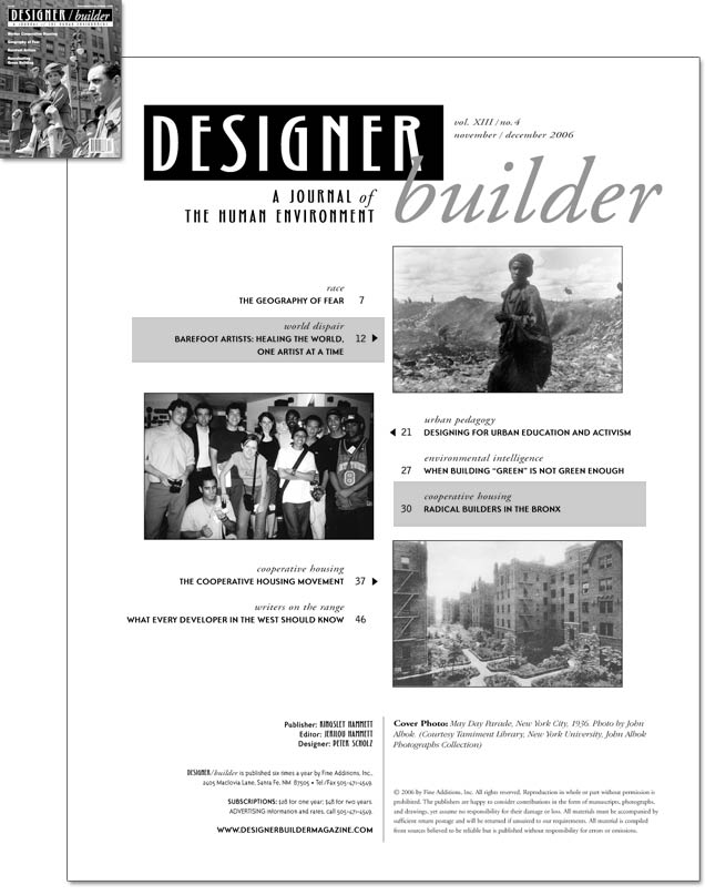 DESIGNER/builder Magazine - November/December 2006 cover